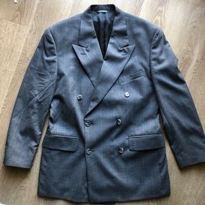 burberry • double breasted wool sport coat